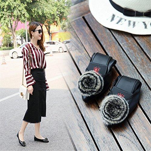 Size Scarpe Comfort camminata Summer piatto punta Casual amp; Punta per B donna a Slip Microfiber Ons Large Tacco Scarpe SHINIK da Mocassini da Xqv411