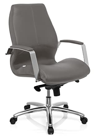 hjh OFFICE 720018 silla de oficina TULA piel sintética gris ...