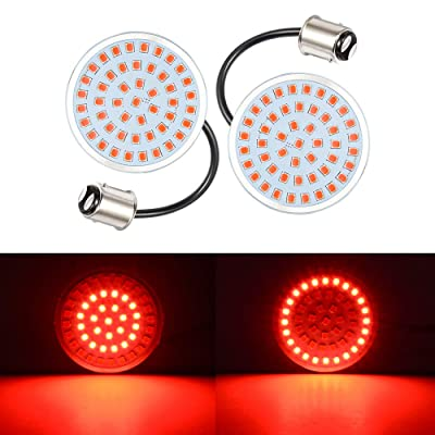 Amazicha 2 Inch LED Turn Signals, 1157 Bullet Style Red Turn Signal Light Rear Brake Light Compatible for Harley Davidson Softail Dyna Sportster Touring: Automotive