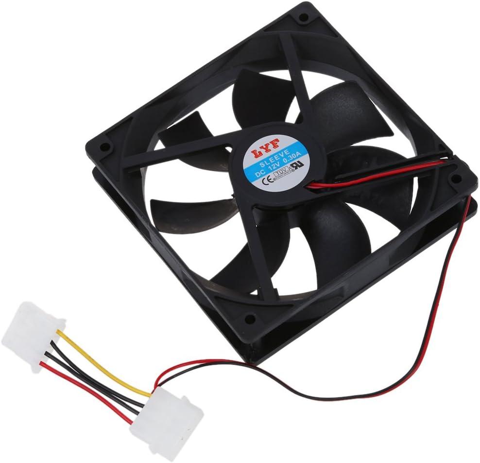 SODIAL(R) Ventilador Enfriador Refrigerador para Ordenador 12cm
