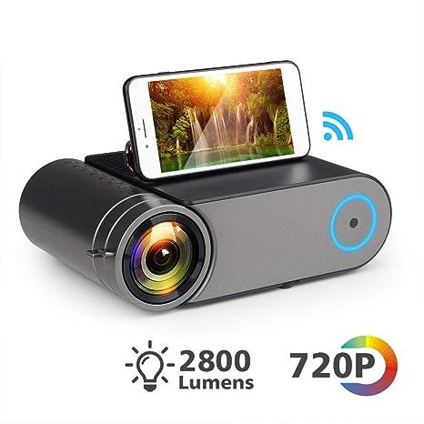 HM2 Mini LED Proyector 720P Portátil Inalámbrico WiFi ...