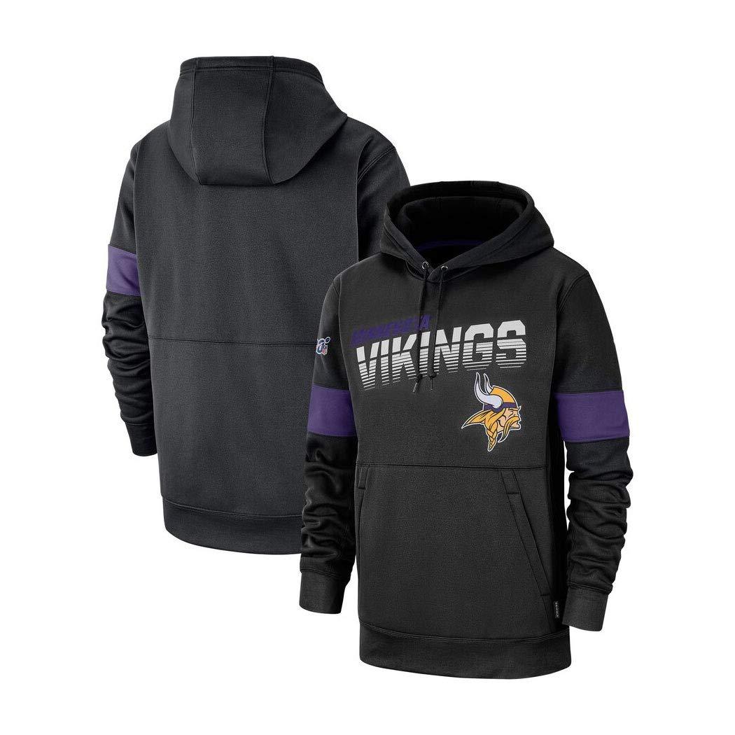 LELEHoodies Sudadera con Capucha De F/útbol Americano For La Camiseta Ocasional Oto/ño Minnesota Vikings Masculino Color : Purple, Size : S