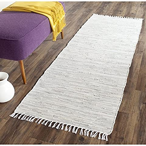 Safavieh Montauk Collection MTK753A Handmade Flatweave Silver Cotton Area Rug (2'3