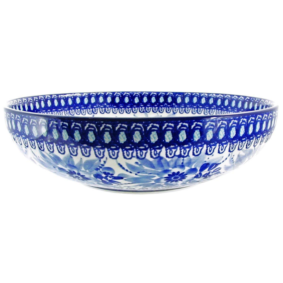 Polish Pottery Handmade Vintage Unikat 10.5'' 2 QT SERVING BOWL - U214 by Great2bHome Polish Pottery and Unique Gifts (Image #3)