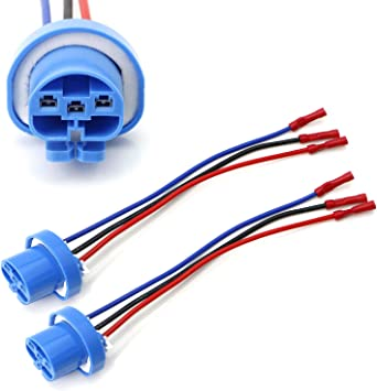 Amazon.com: iJDMTOY Pair 9004 9007 HB5 3-Wire Headlight Plug ... on indestructible dog harness, front lead dog harness, painless engine harness, dodge ram injector harness, 5.3 vortec swap harness, duraspark harness, racing seat harness, painless fuse box, 1972 chevy truck harness, radio harness, electrical harness, rover series 3 diesel harness, horse driving harness, car harness, fuel injector harness, 5 point harness, horse team harness, chevy tbi harness, ford 5.0 fuel injection harness, bully dog harness,