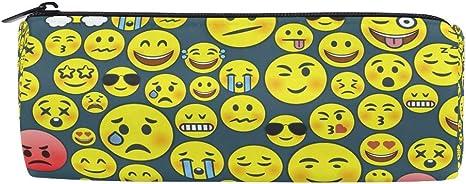 Emoji Emoticons - Estuche para lápices y bolígrafos, diseño de emoticonos: Amazon.es: Oficina y papelería
