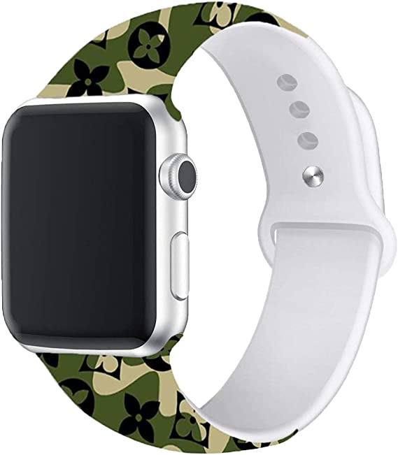Correa Deportiva Compatible Con Apple Watch 44 Mm 1 575 In Correa De Silicona Suave De Repuesto Para Iwatch Sport Series 4 3 2 1 S M M L