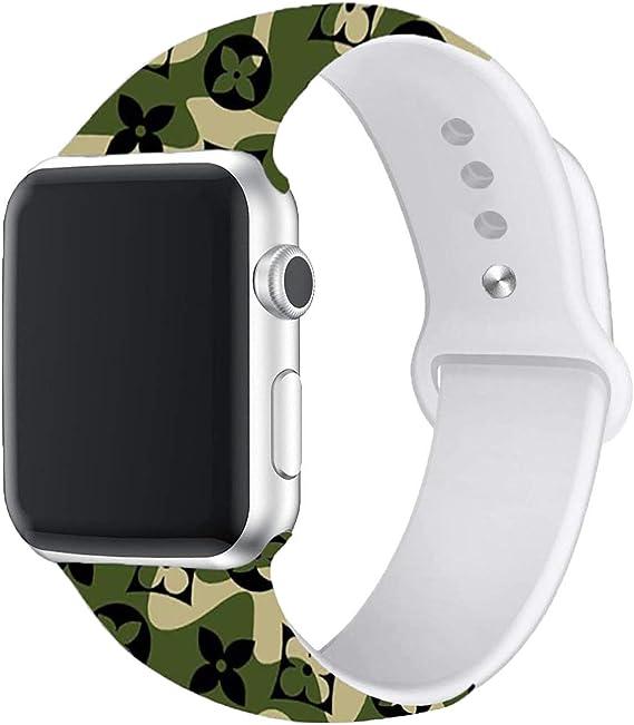 Correa Deportiva Compatible Con Apple Watch 44 Mm 1 575 In Correa De Silicona Suave De Repuesto Para Iwatch Sport Series 4 3 2 1 S M M L