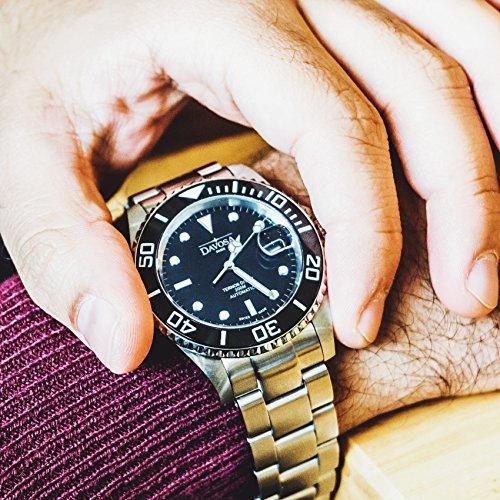 Davosa Swiss Made Men Wrist Watch, Ternos Ceramic 16155550 Professional Automatic Analog Display & Luxury Bezel by Davosa (Image #4)