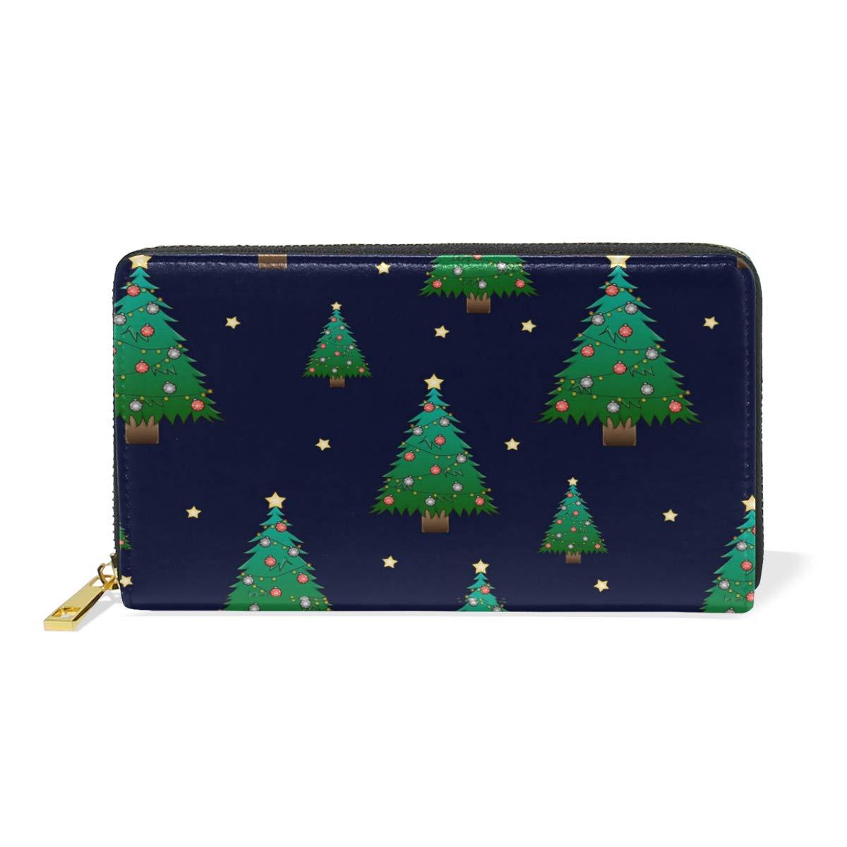 Toddler Christmas Ornaments Real Leather Zip Around Wallet Wristlet minimalist wallet Travel Purse Wristlet