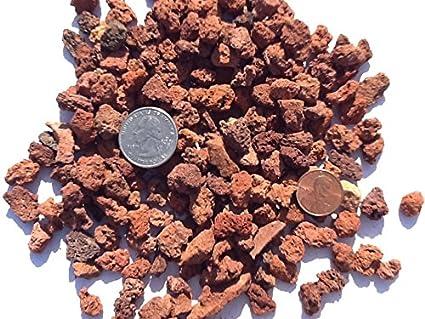 Amazon.com: Rojo Lava Rock, de tamaño medio piedras 1/2,