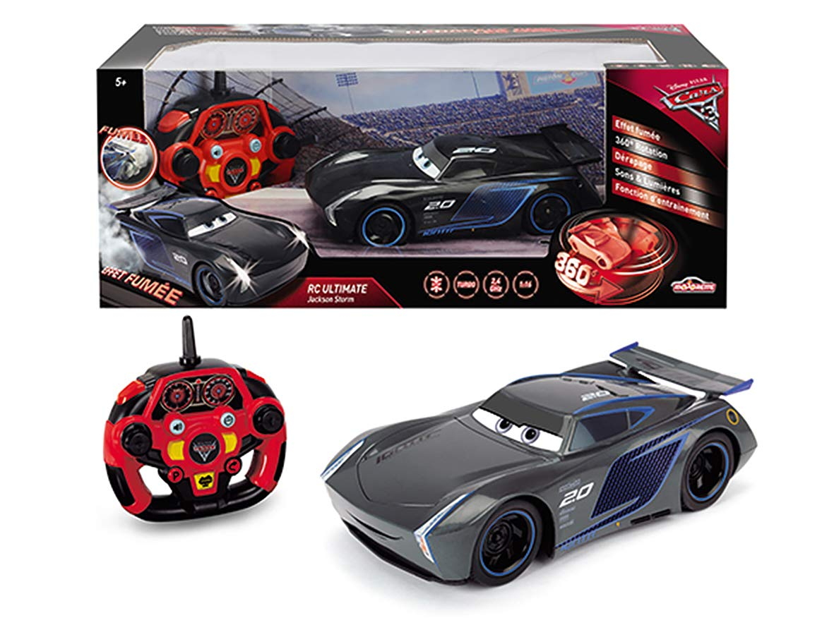 Majorette Cars 3 RC 1/16 Jackson Storm Car 7/213086007 Black