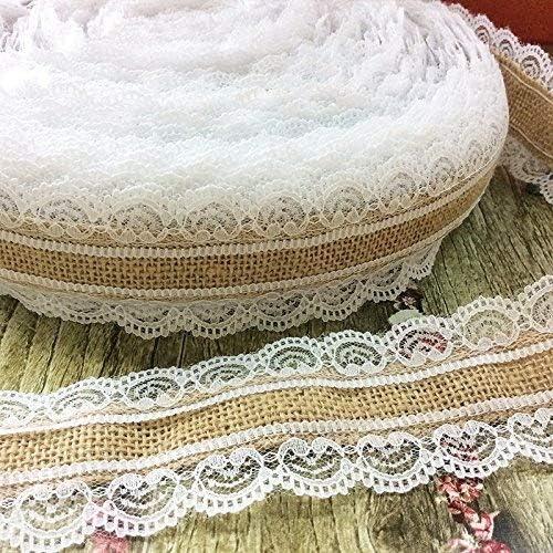 Hessische Rustikal Jute Nähen Band Spitzenrand Baumwolle Hochzeit Vintage Bastel