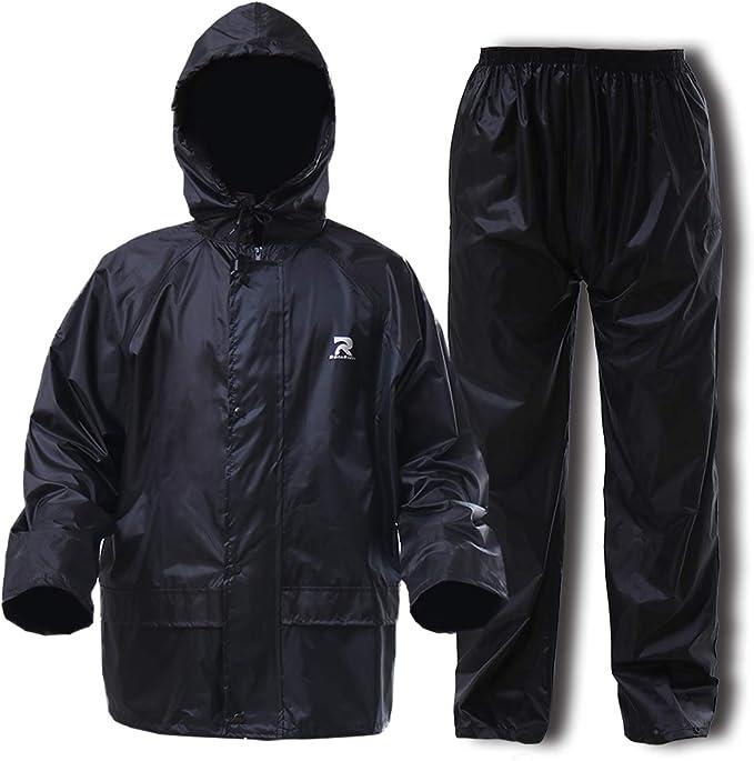Adults Unisex Waterproof All in One Rainsuit Ideal Wet Weather Gear Mens /& Ladies