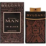 Bvlgari Man In Black Eau de Parfum Spray for Men, Essence (Limited Edition), Multicolor, 3.4 oz (10038881)
