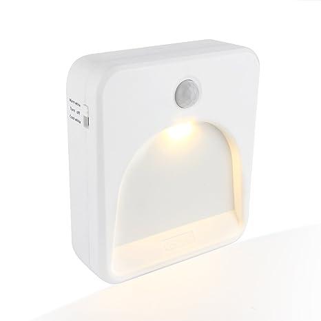 Coidak CO823 - Luz nocturna LED con sensor de movimiento, temperatura de color seleccionable (