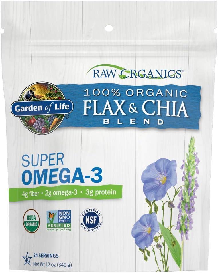 Garden of Life - Semilla de lino de oro orgánica cruda molida frío verdadero y semilla orgánica de Chia - 12 oz.: Amazon.es: Salud y cuidado personal