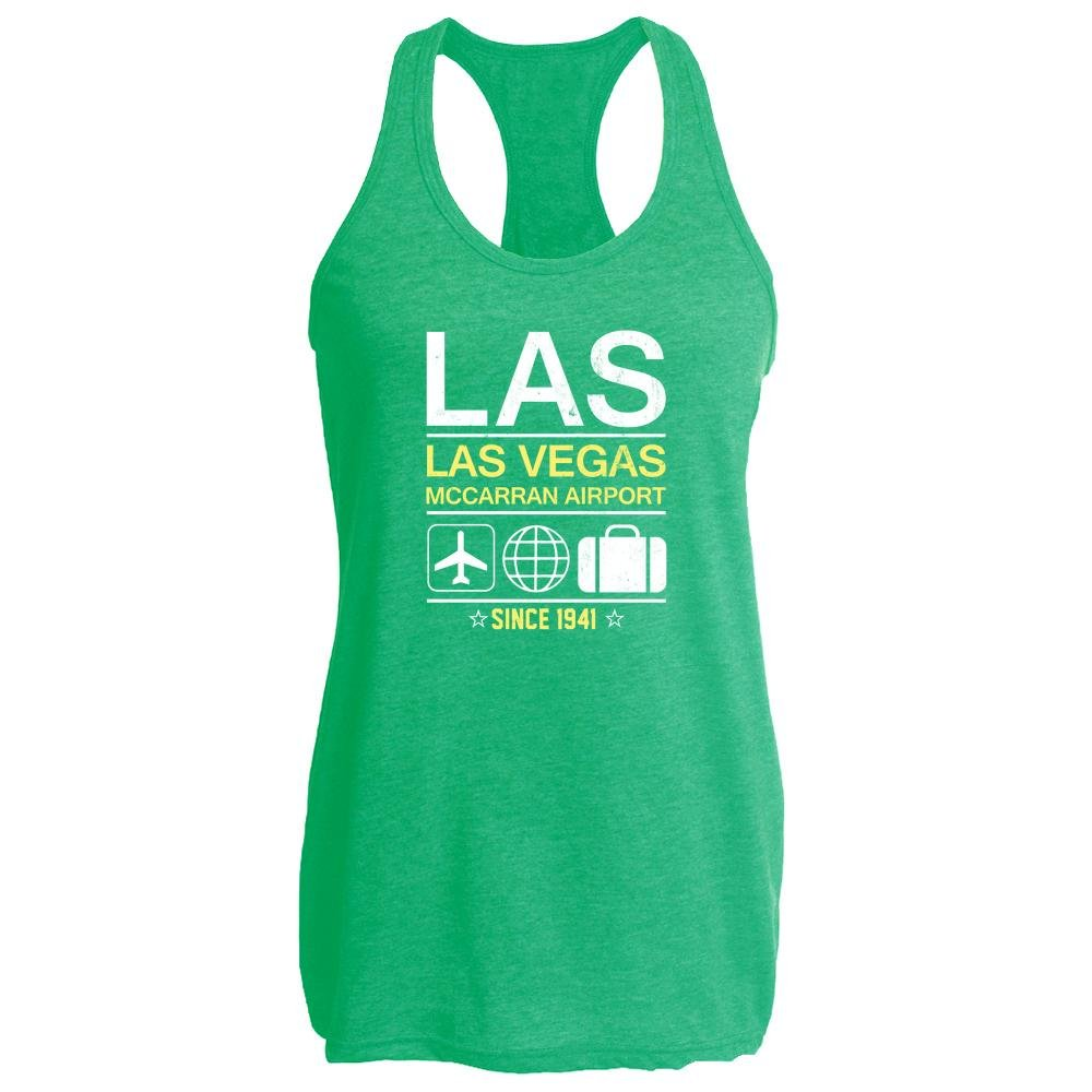 LAS Las Vegas Airport Code Since 1941 Travel Heather Kelly M Womens Tank Top by Pop Threads