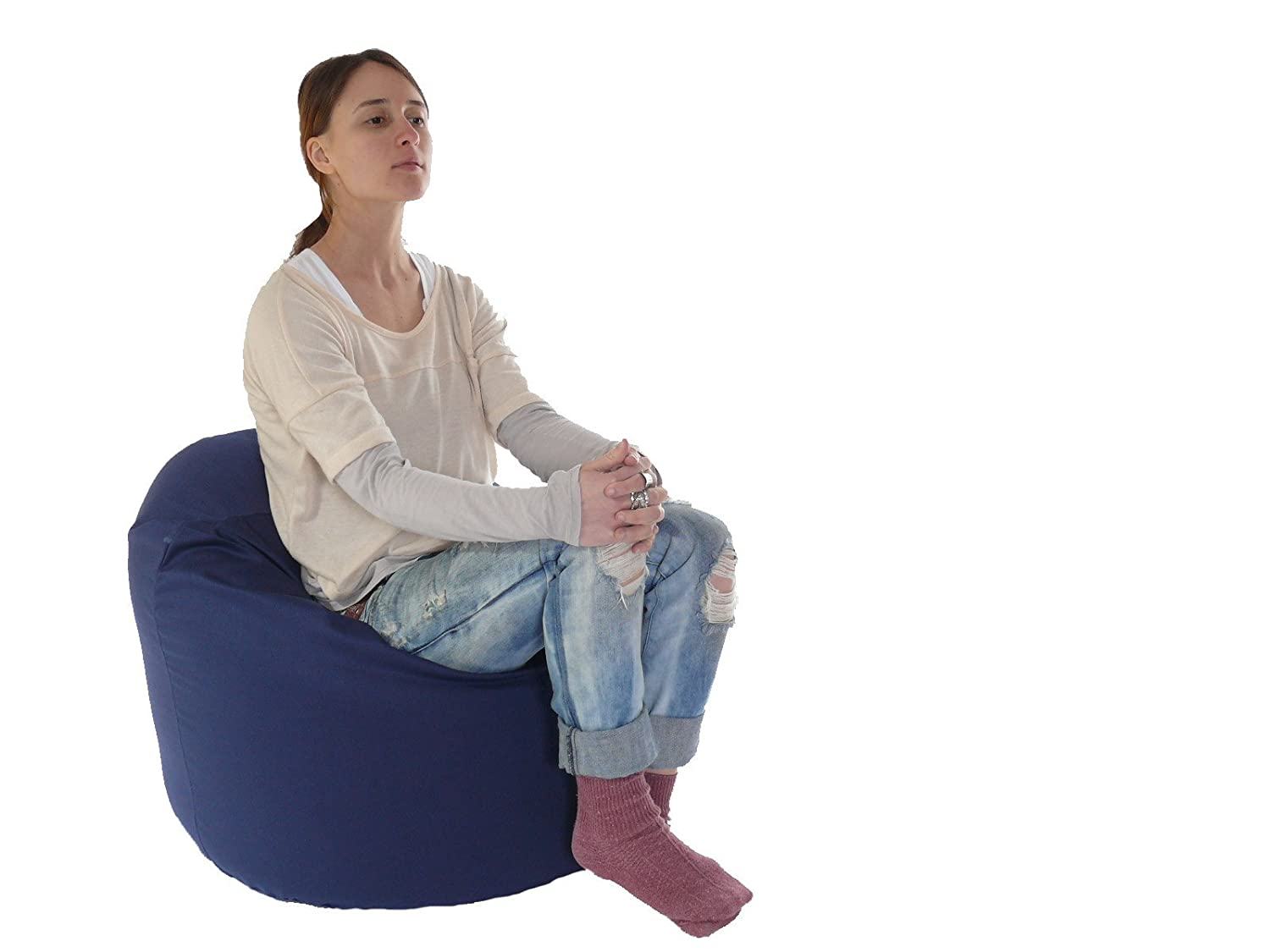 Larger Bean Bag With Beans Navy Blue