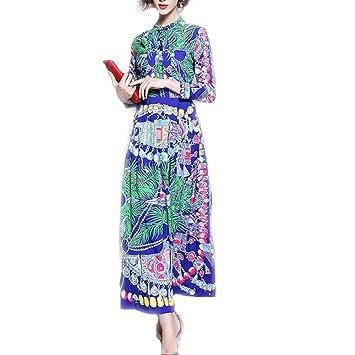 ZSRHH-Falda Vestido de Mujer Fashian Ladies Vintage Resumen ...