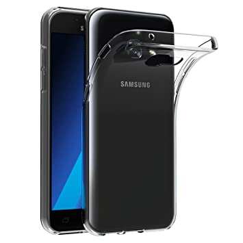 AICEK Funda Samsung Galaxy A3 2017, Samsung Galaxy A3 2017 A320F/A320FL Funda Transparente Gel Silicona Galaxy A3 2017 Carcasa para Samsung Galaxy A3 ...