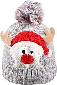 BESTOYARD Navidad bebé niños niñas niños cálido Invierno Lana ...