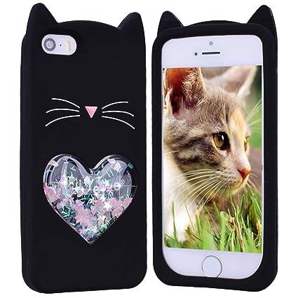 38b984b575f HopMore Gato Funda para iPhone 6S Plus/iPhone 6 Plus Silicona Dibujo 3D  Divertidas Carcasa