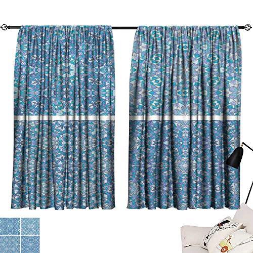 Hariiuet Sheer Curtains Set of Abstract Mosaic Colorful Seamless Wallpaper Texture backg13 72