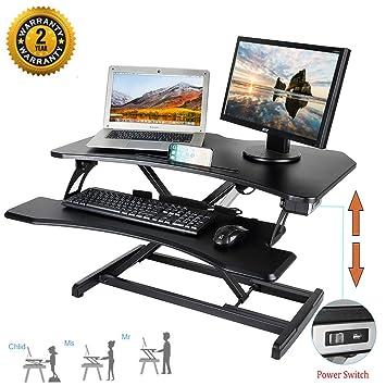 Mbuynow Mesa para Ordenador, Mesa Portátil Ajustable en Computadora para Trabajar Sentada con un Escritorio con Teclado Retráctil: Amazon.es: Hogar