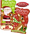 Rudolph the Red-Nosed Reindeer Shaped Board Books (Set of 2)