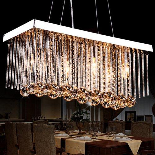 Modern Classic Metal Crystal Chandeliers Ceiling Light Pendant Lighting Flush Mount Lights Island Lights Lamp Downlight for Living Room Bedroom Dining Room Hallway White