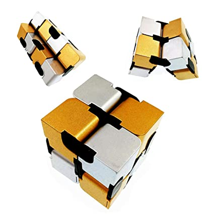 JUHAICH Creative Novelty Infinite Cube By, Magic Folding Cube Puzzles  -Adult to Decompress Fidget Cube and Children Toys, Folding and Portable  Cube