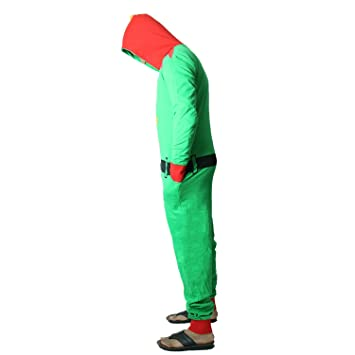 2a14e94158b Novelty Unisex Mens Ladies Elf Santa All in One Christmas Onesie Costume  Jumpsuit Sizes Small to