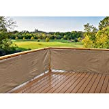 Alion Home HDPE Privacy Screen Windscreen Mesh Shade panel For Backyard Deck, Patio, Balcony, Fence, Porch, Pool -180 GSM - Custom Size Available (3' x 150', Walnut)