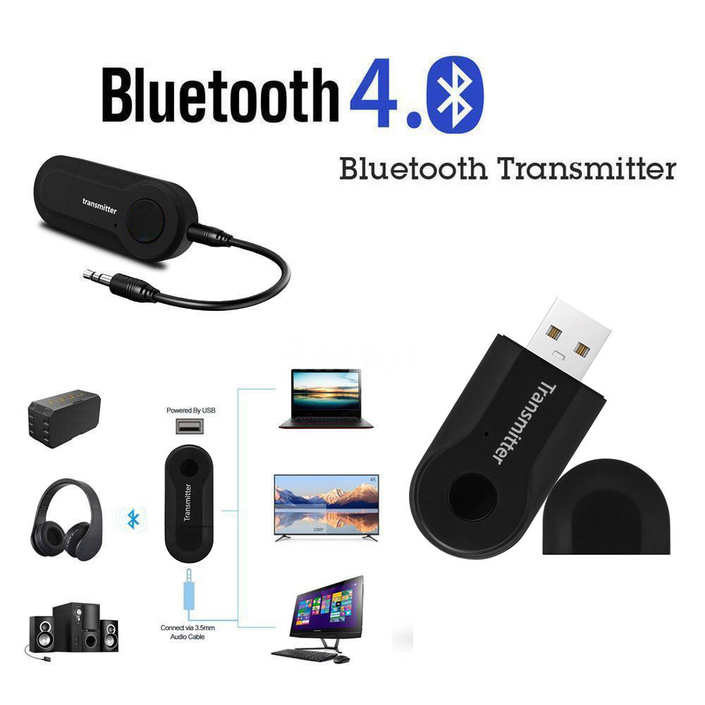 LtrottedJ Wireless Bluetooth Transmitter Stereo Audio Music Adapter for TV Phone PC Y1X2 LtrottedJ®