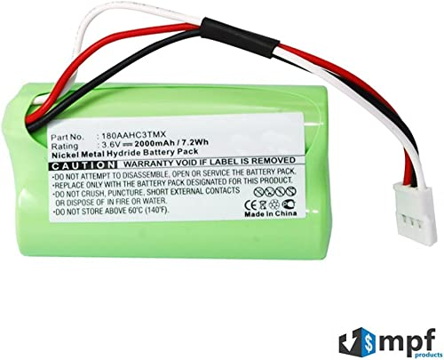 MPF Products 2000mAh High Capacity 180AAHC3TMX, 993-000459 Battery Replacement Compatible with Logitech S315i, S715i, Z515 Portable Speaker