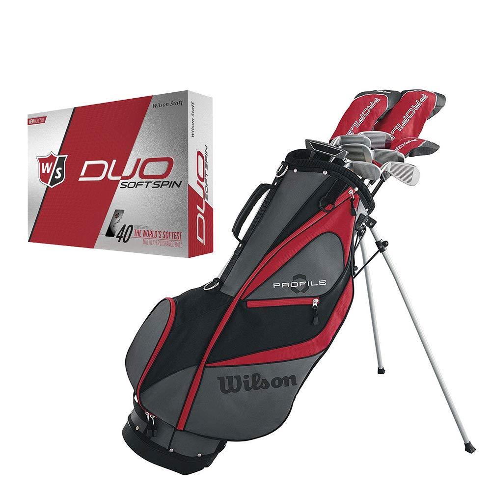 Wilson Profile XD ゴルフクラブセット 左利き用 バッグ付き ゴルフボール12個入り メンズ B07H5TVPFZ