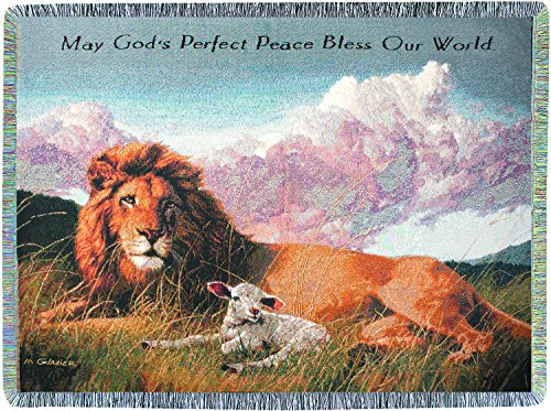 MAGICO Lion and Lamb Tapestry Throw