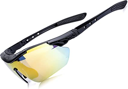 Sport Sunglasses Cycling Running Riding Hiking Polarized Lens Goggles w// Case