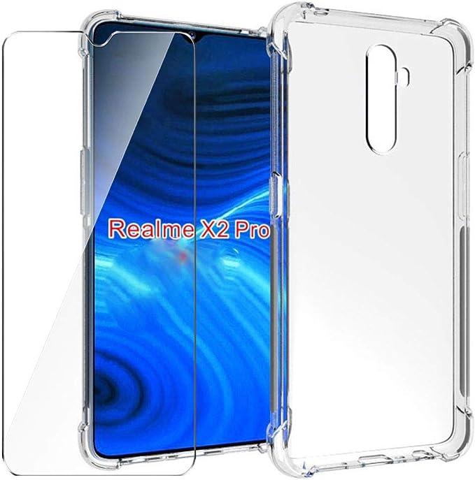 HYMY Funda para Realme X2 Pro Smartphone + 1 x Cristal Templado ...