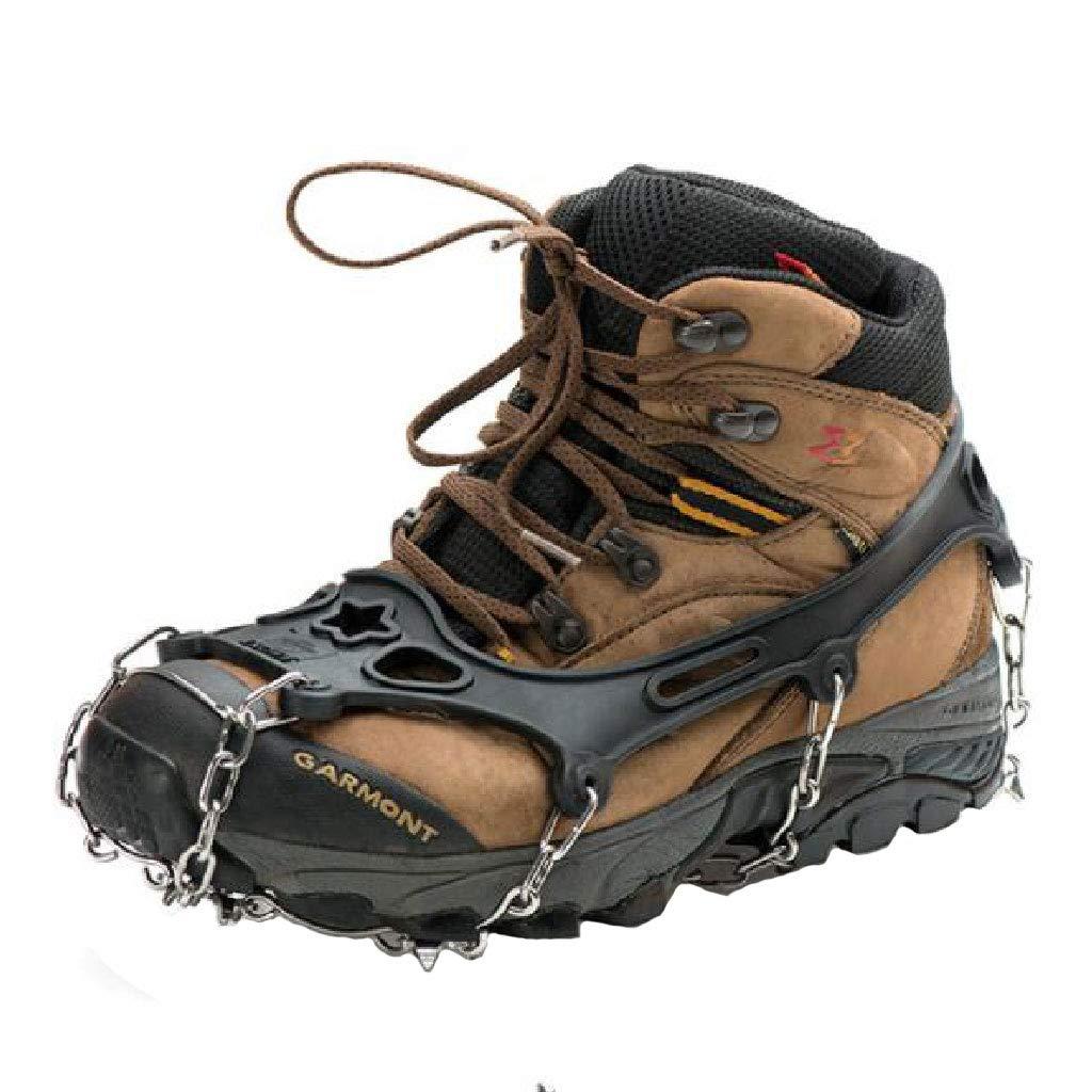 HEYANHYAN Outdoor-Steigeisen Anti-Rutsch-Schuhe Deckt Schneekletterausrüstung Schneekrallen Wanderschuhe Nagelkette 21-Zahn-Steigeisen Männer Und Frauen Ab (größe   M)