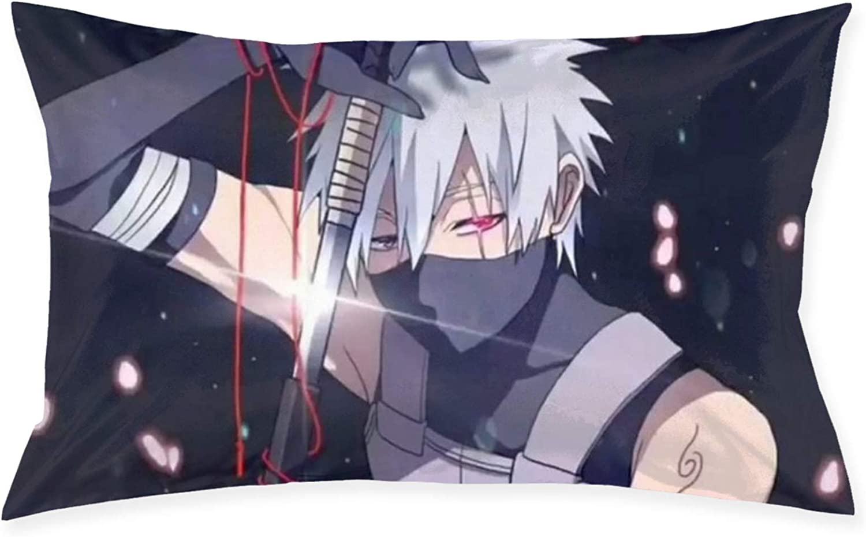 Amazon Com Pillow Cases Naruto Hatake Kakashi Throw Cushion Covers Body Pillow Cover For Car Sofa Bed Home Decor 20 X30 Home Kitchen