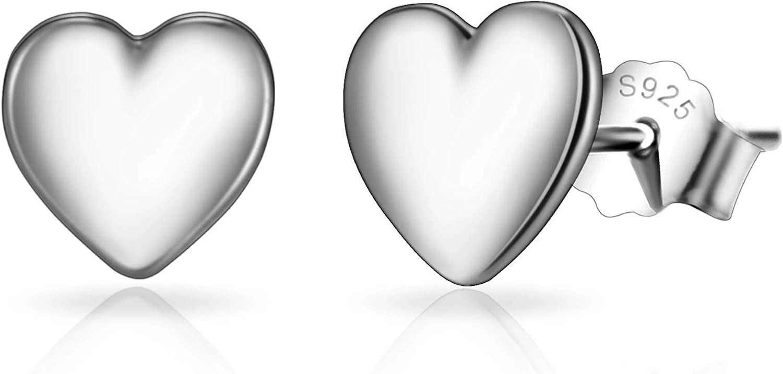 Sterling Silver Friendship Quote Heart Earrings