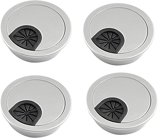 Pasacables de escritorio - SODIAL(R) 4pzs Cubierta de agujero de ...