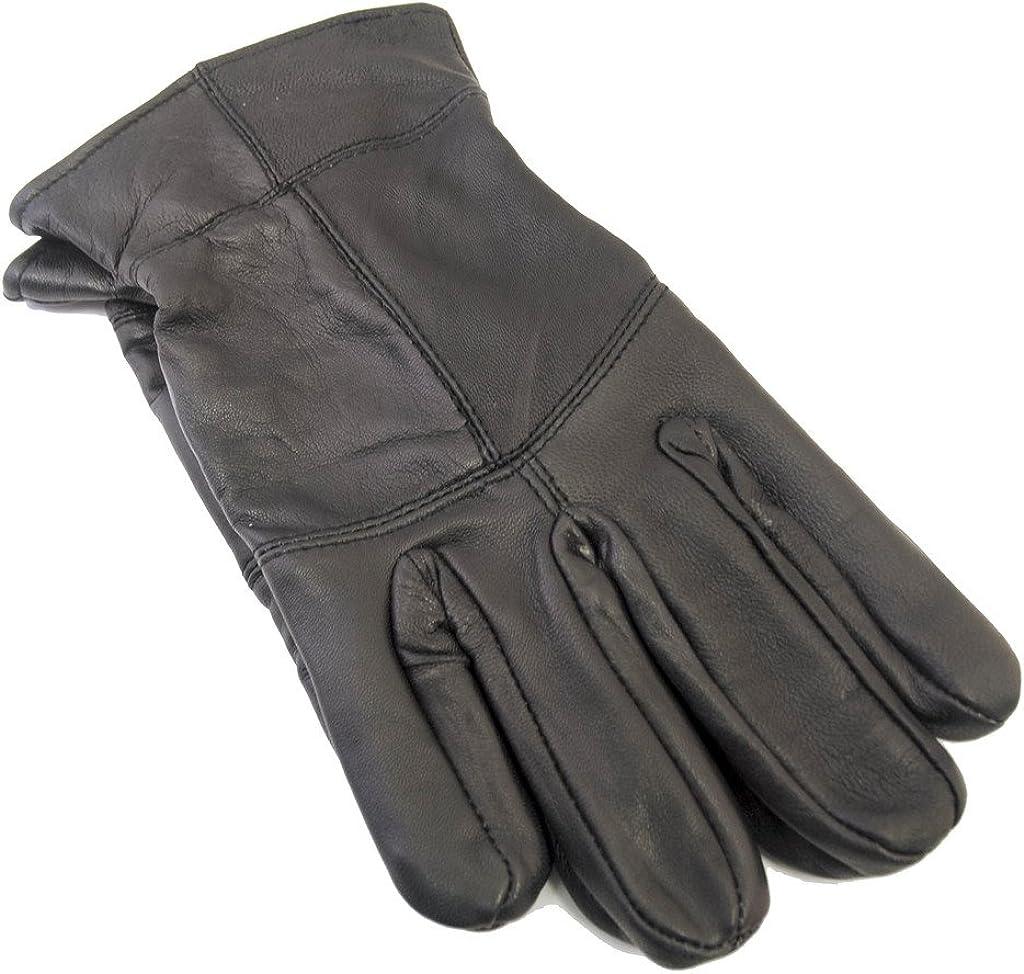 Tom Franks Mens Black Leather Thinsulate Lined Gloves