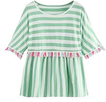 Ronamick Camisetas Vogue Mujer Comfortable Blusa Terciopelo Mujer Tops Mujer Deporte Comfortable Camisa Dorada Mujer (Verde,XL): Amazon.es: Hogar