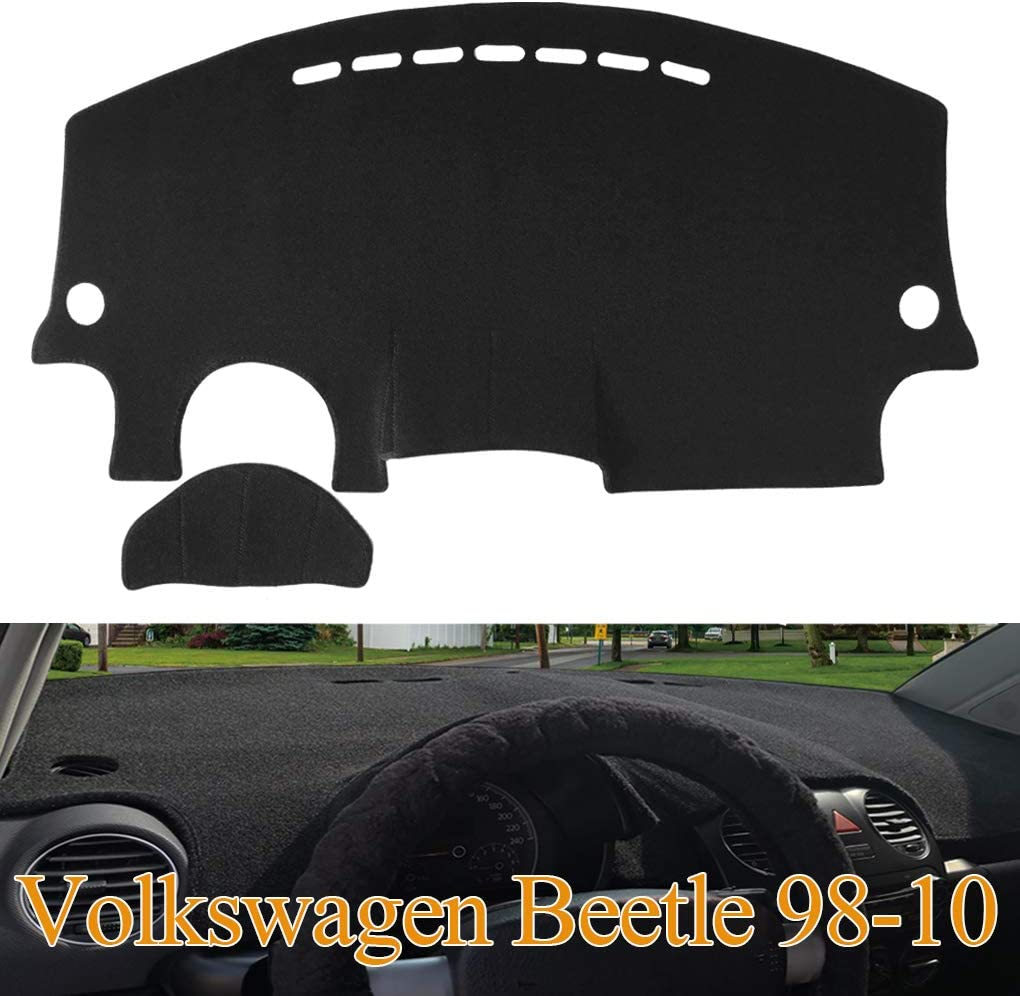 Yiz Dashboard Cover Dash Cover Mat Fit for VW Volkswagen Beetle 1998-2010 (Black) Z11