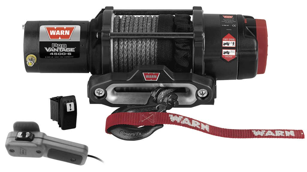 New Warn ProVantage 4500 lb Winch With Synthetic Rope & Model Specific Mounting Hardware - 2009-2013 Kawasaki Teryx 750 4x4 Sport UTV