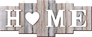 Home Signs for Home Decor, Wood Home Sign, Home Heart Rustic Wall Decor, Sweet Farmhouse Wooden Wall Sign Decoration Wood Letters Ornament for Bedroom, Living Room, Wedding Decor (Modern Color)