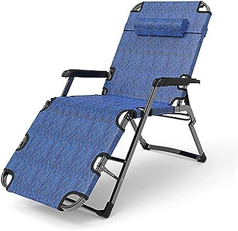 Reclinables Silla de Playa con tumbonas, sillas de Gravedad Cero Silla de jardín reclinable Ajustable Plegable para el Patio de la Piscina Peso de 300 KG: Amazon.es: Hogar